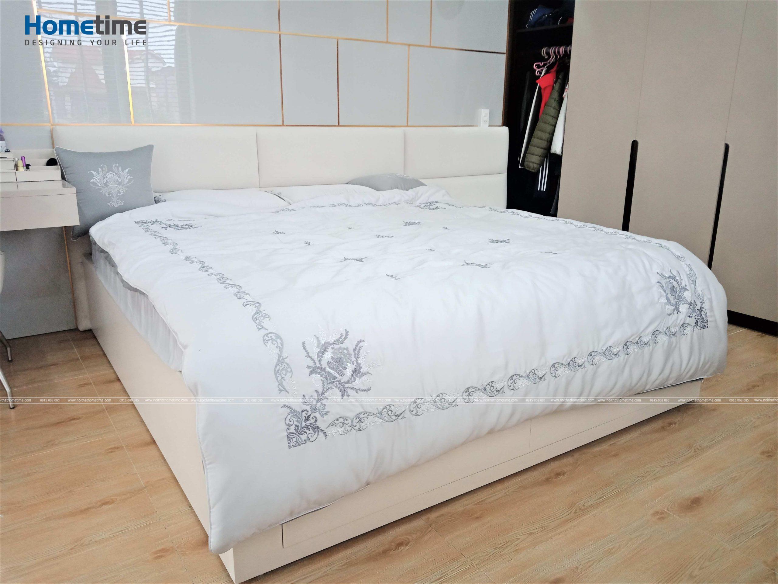 Chiếc giường đầy êm ái thư giãn