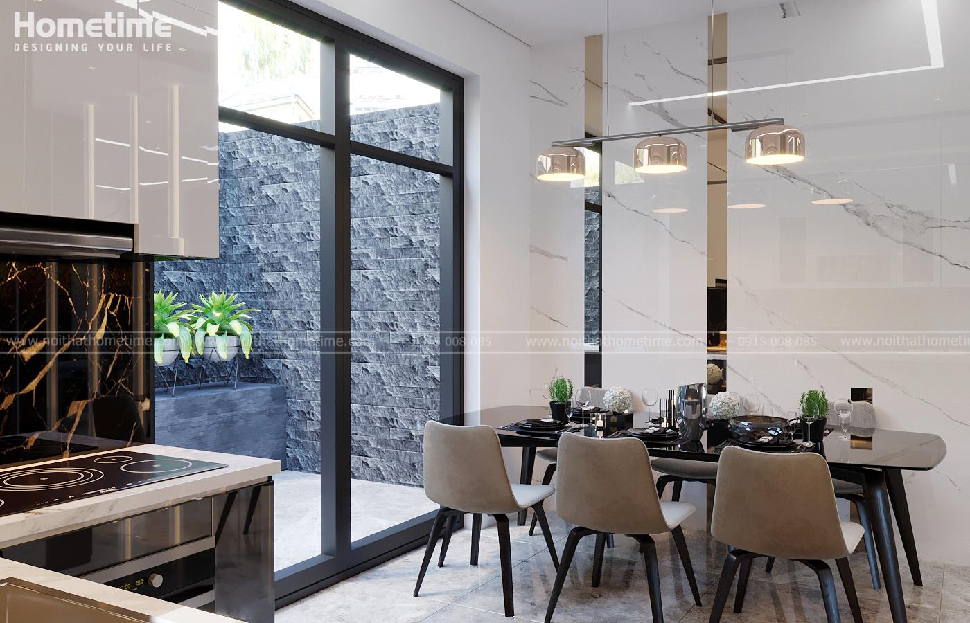 Hình ảnh tổng quan về bàn ăn nhà anh Minh Manhanttan
