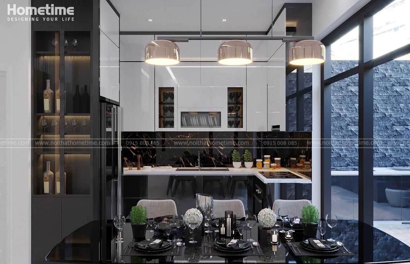 Hình ảnh tổng quan về tủ bếp nhà anh Minh