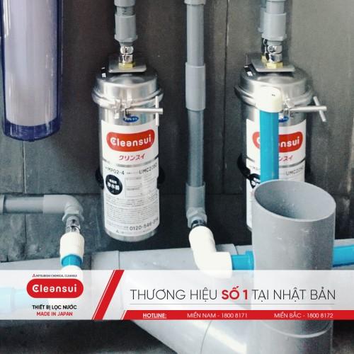 Kết hợp hai bình lọc cho hệ thống vòi rửa