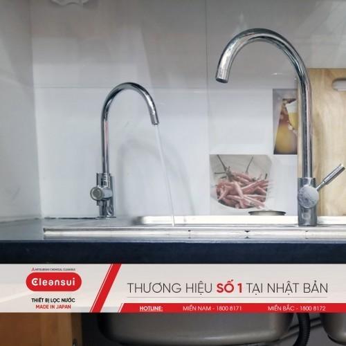 Vòi lọc nước Cleansui EU101 lắp cùng vòi rửa thường