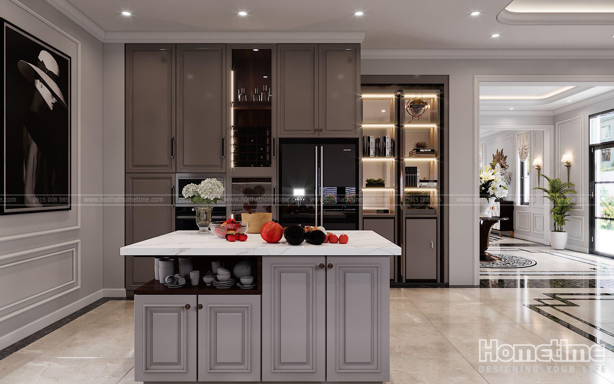 Mẫu bàn đảo tiện nghi cho khu vực phòng bếp