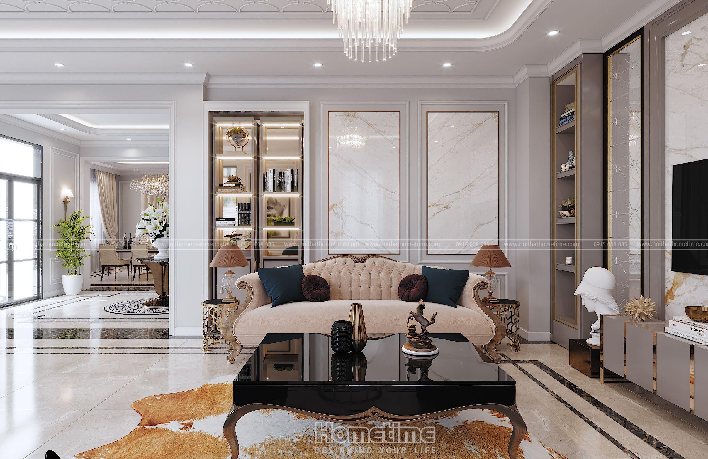 Bộ ghế sofa với những đường nét tân cổ điển