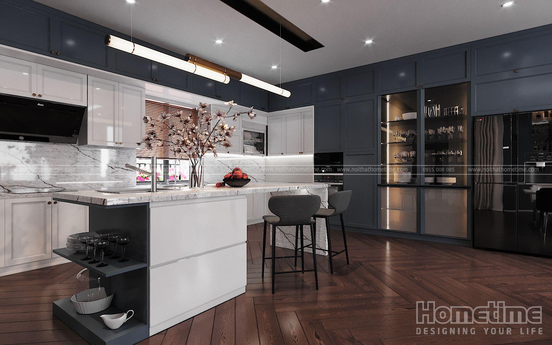 Thiết kế nội thất phòng bếp hiện đại nhà chị Hạnh