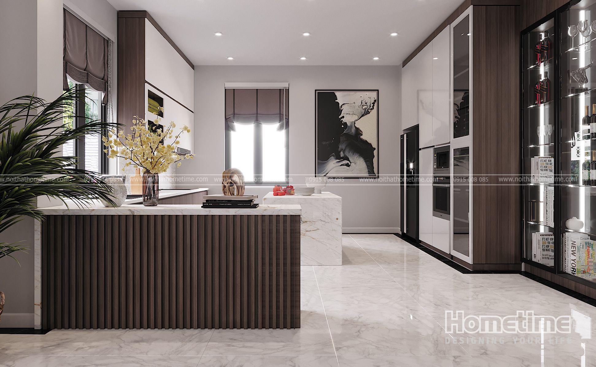 Phòng bếp nhà anh Sơn biệt thự Vinhomes Marina Hải Phòng