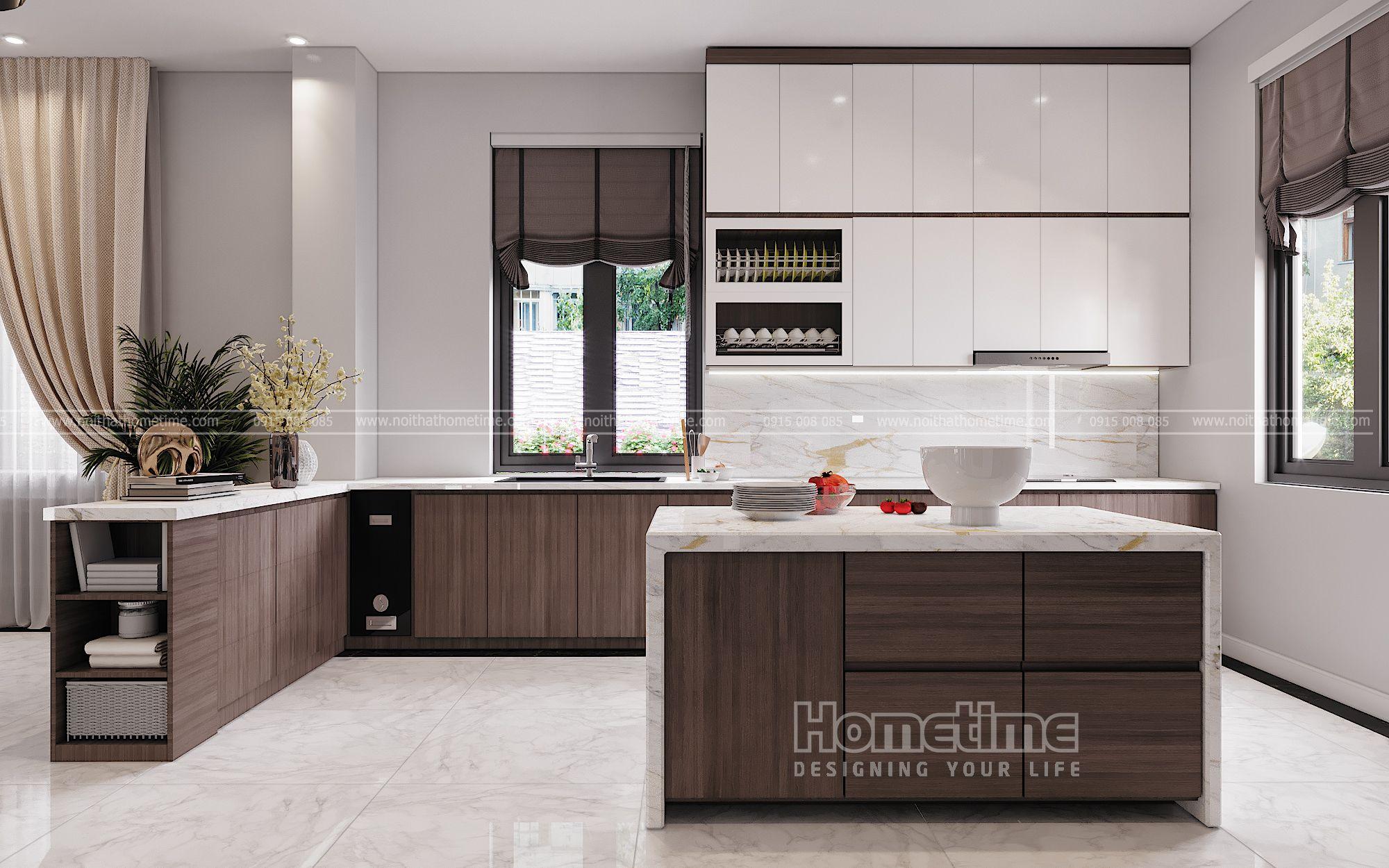 Thiết kế nội thất tủ bếp biệt thự Vinhomes Marina Hải Phòng