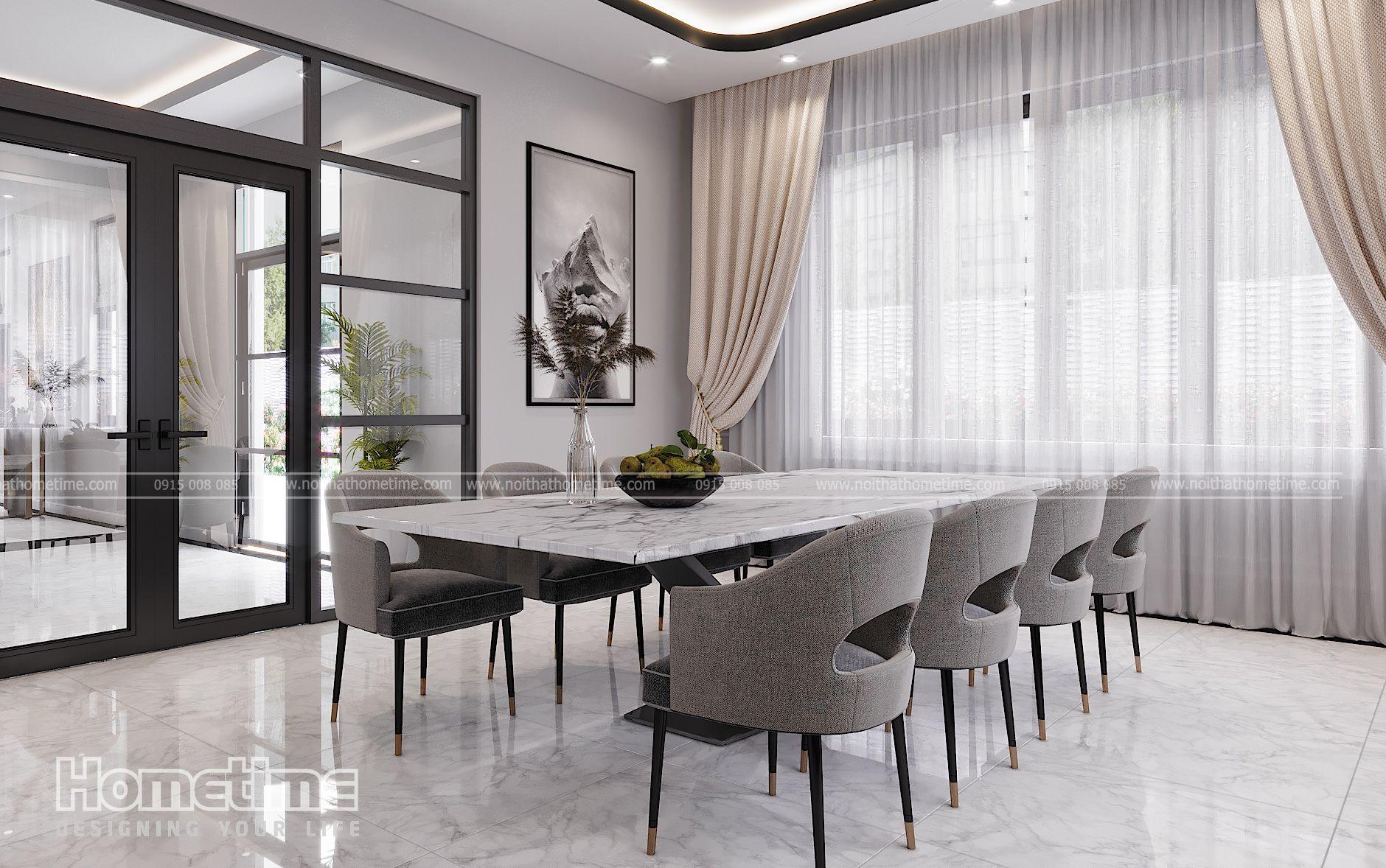 Chiếc bàn ăn rộng dành cho đại gia đình