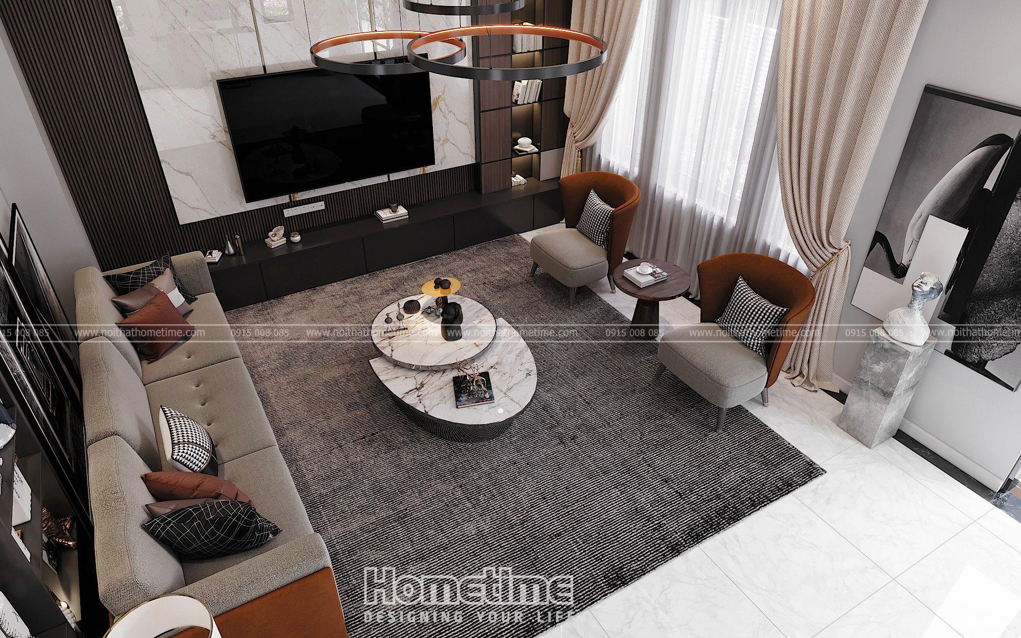 Tổng quan mẫu thiết kế nội thất phòng khách hiện đại