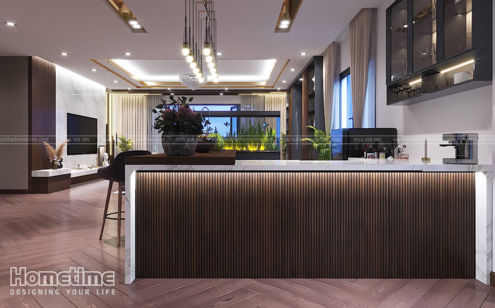 Thiết kế nội thất phòng bếp với xu hướng hiện đại