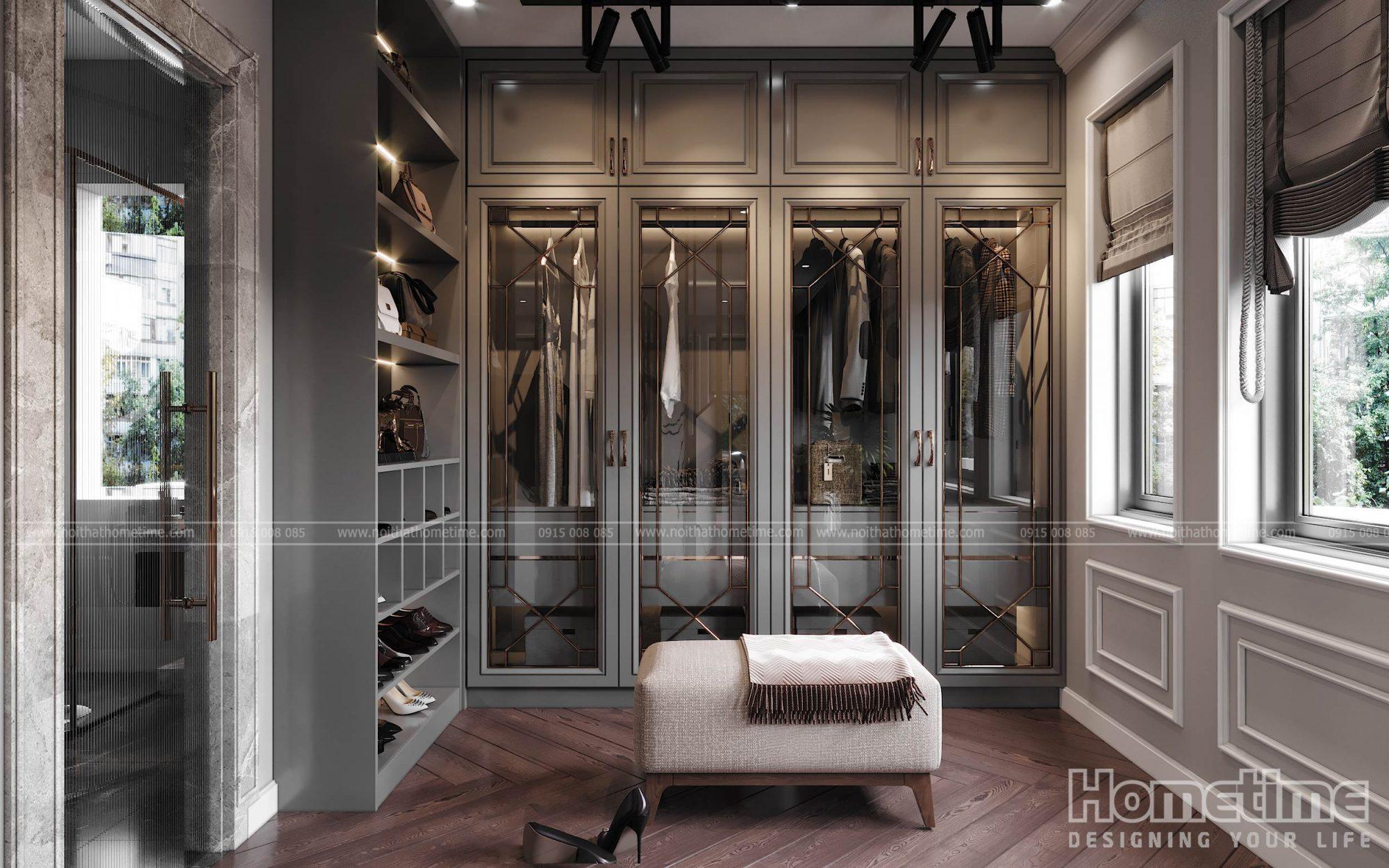 Thiết kế nội thất phòng ngủ hiện đại nhà anh Sơn Vinhomes Marina