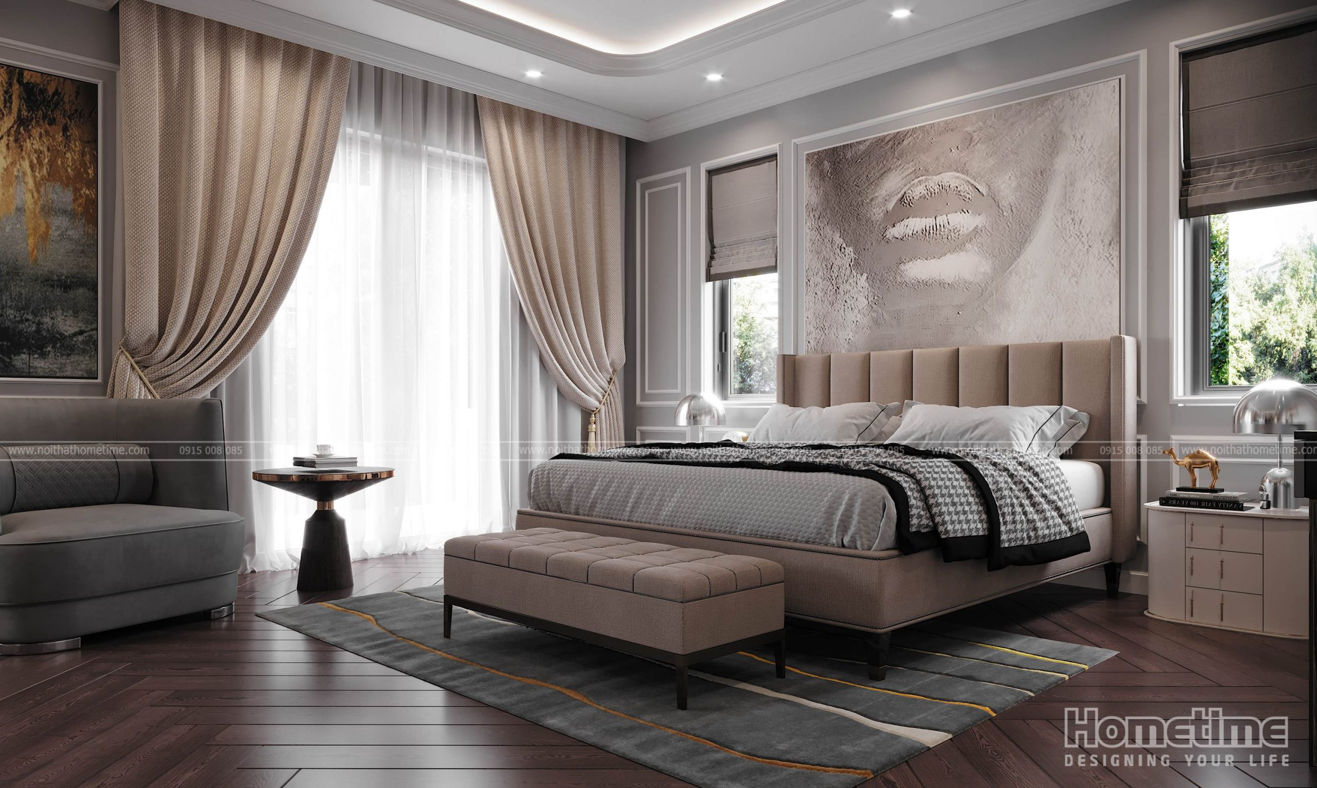 Mẫu giường ngủ chất lượng bền đẹp