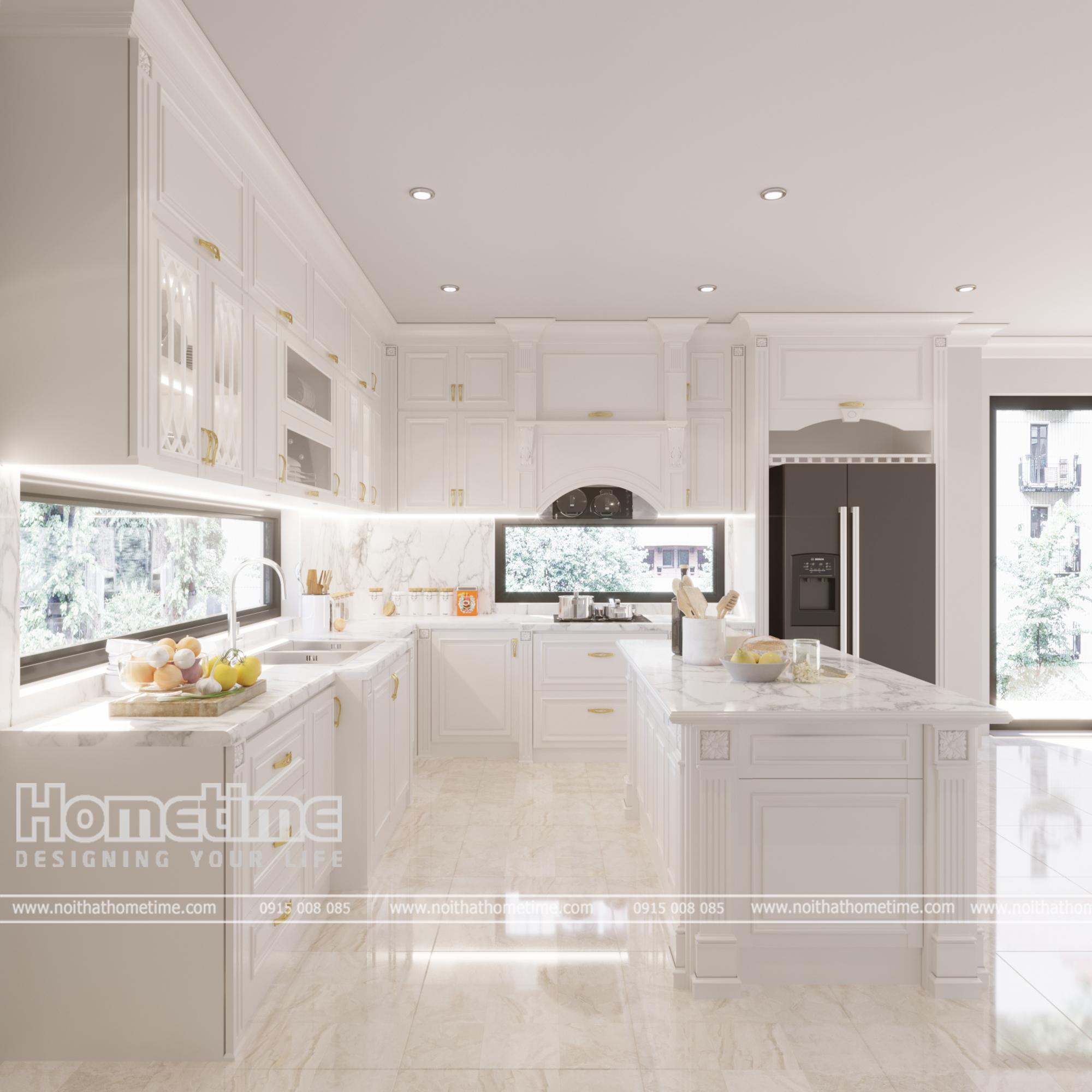 Vẻ đẹp từ thiết kế tủ bếp tân cổ điển