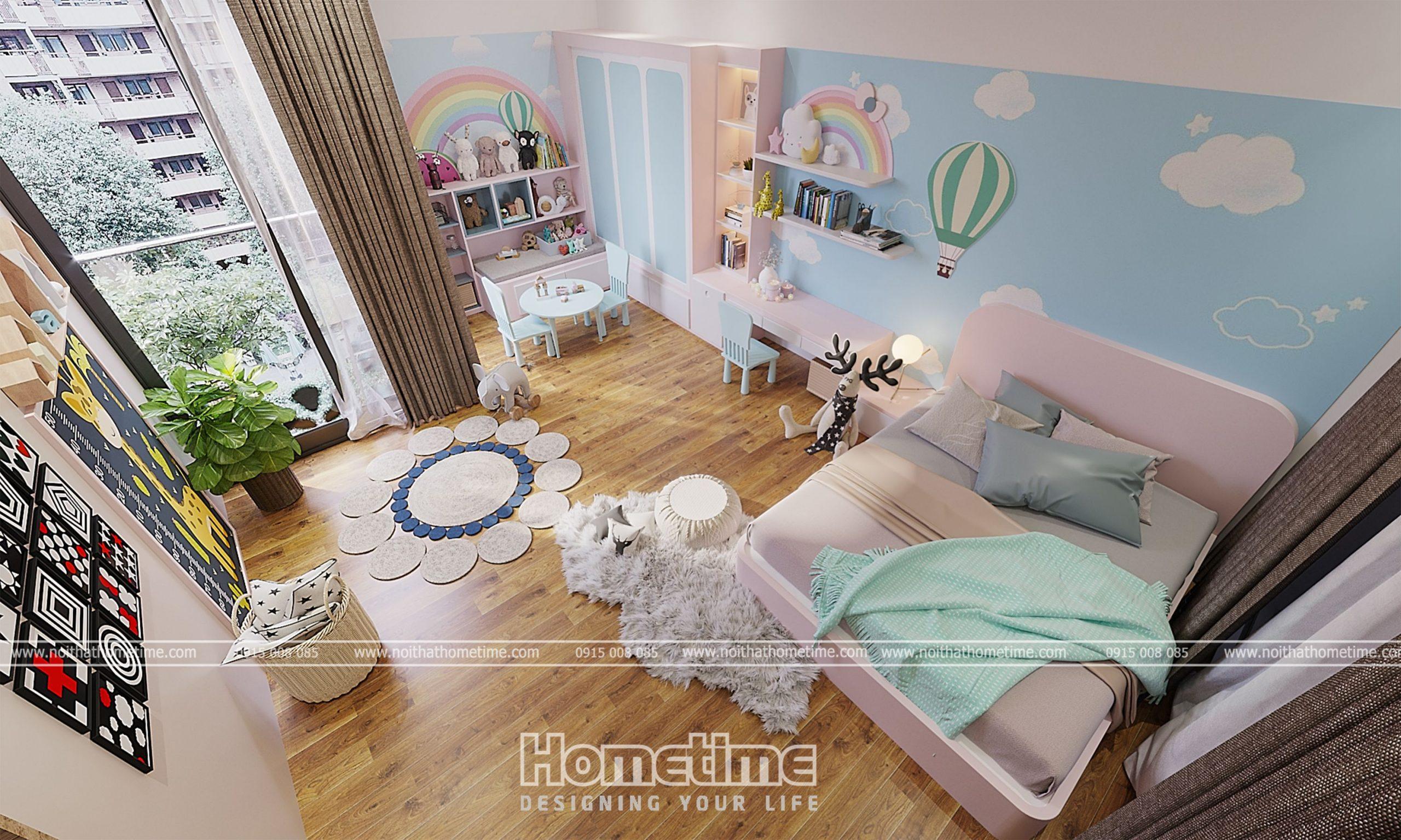 Tổng quan mẫu thiết kế nội thất phòng ngủ cho bé gái