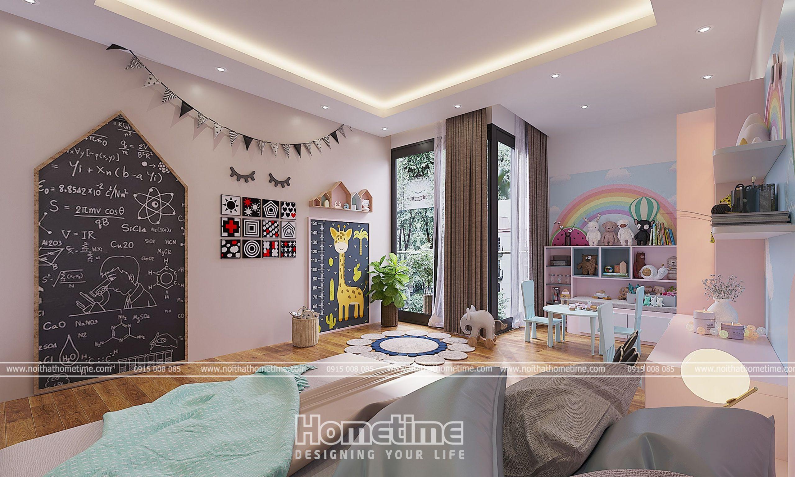 Trang trí phòng ngủ bé gái siêu đáng yêu