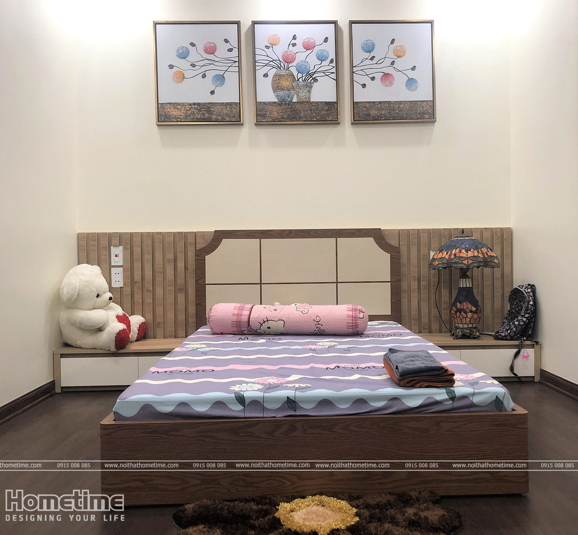 Thiết kế vách trang trí đầu giường hài hòa