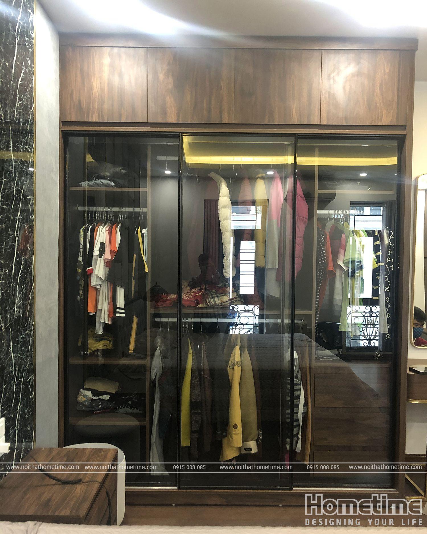 Tủ quần áo làm từ dòng gỗ cao cấp