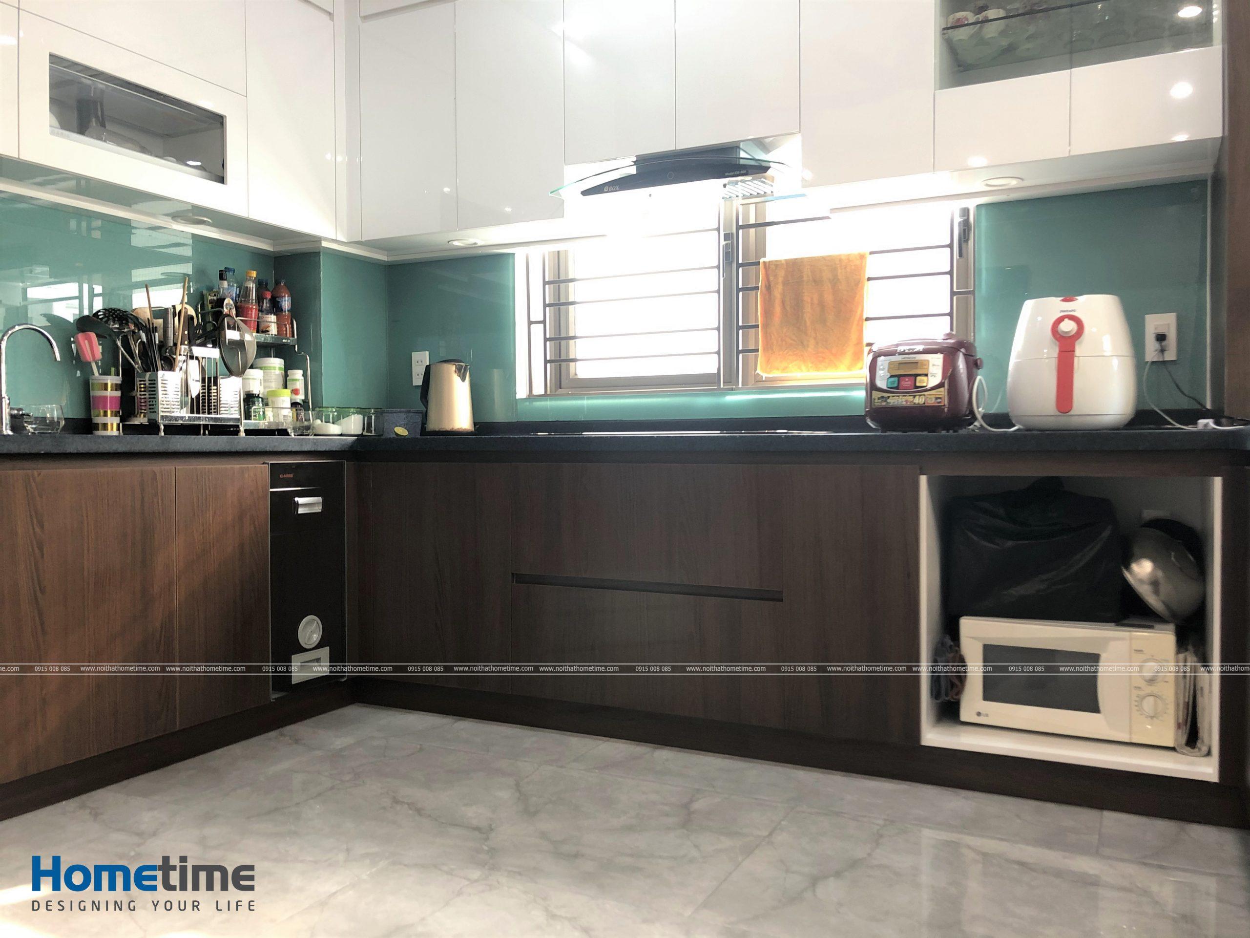 Tủ bếp dưới phủ laminate hiện đại