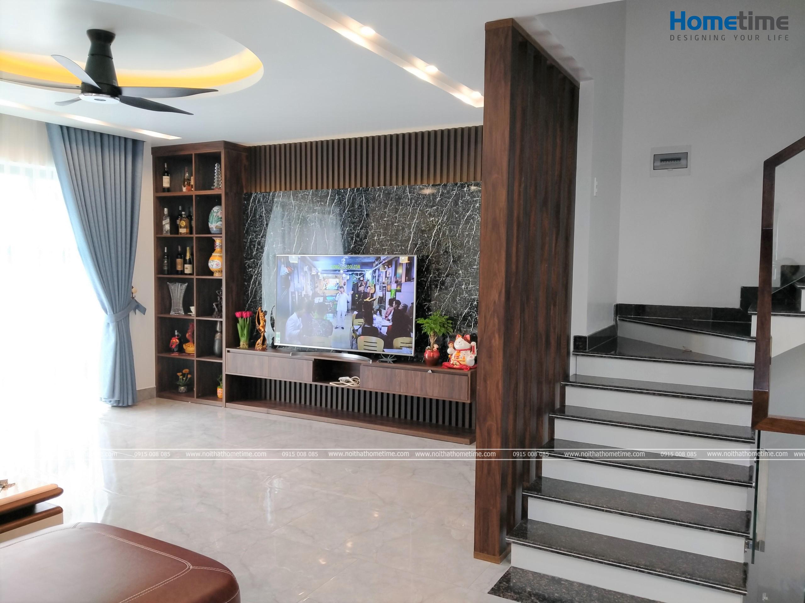 Vị trí phòng khách được bố trí ở tầng 2