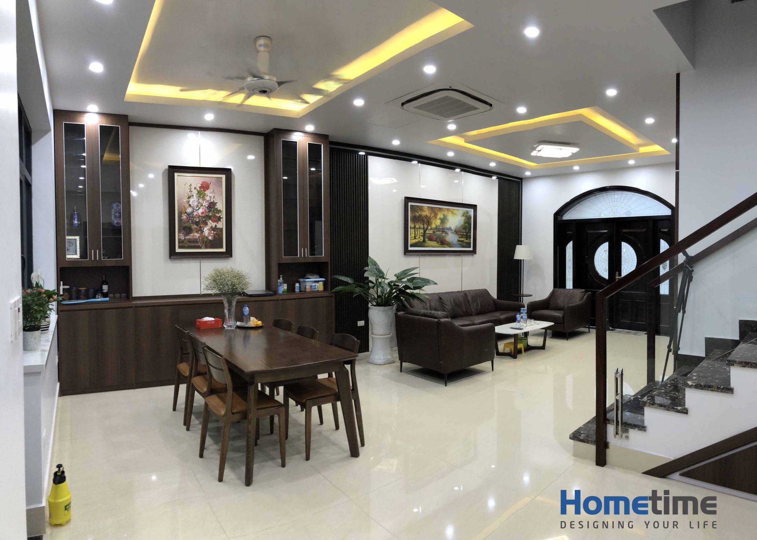 Thiết kế nội thất có sự giao thoa giữa hai căn phòng