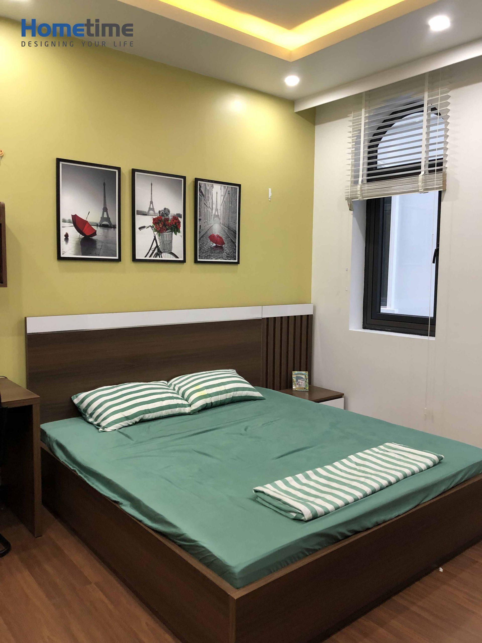 Giường ngủ hiện đại với chất liệu gỗ MDF chống ẩm