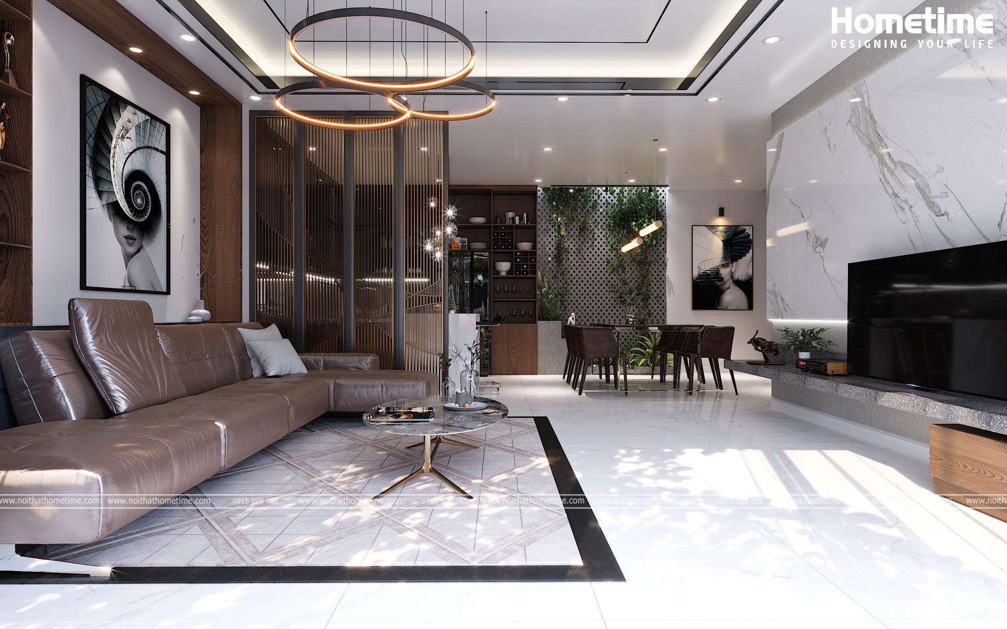 Thiết kế nội thất phòng khách bếp nhà anh Thành Đồ Sơn Hải Phòng