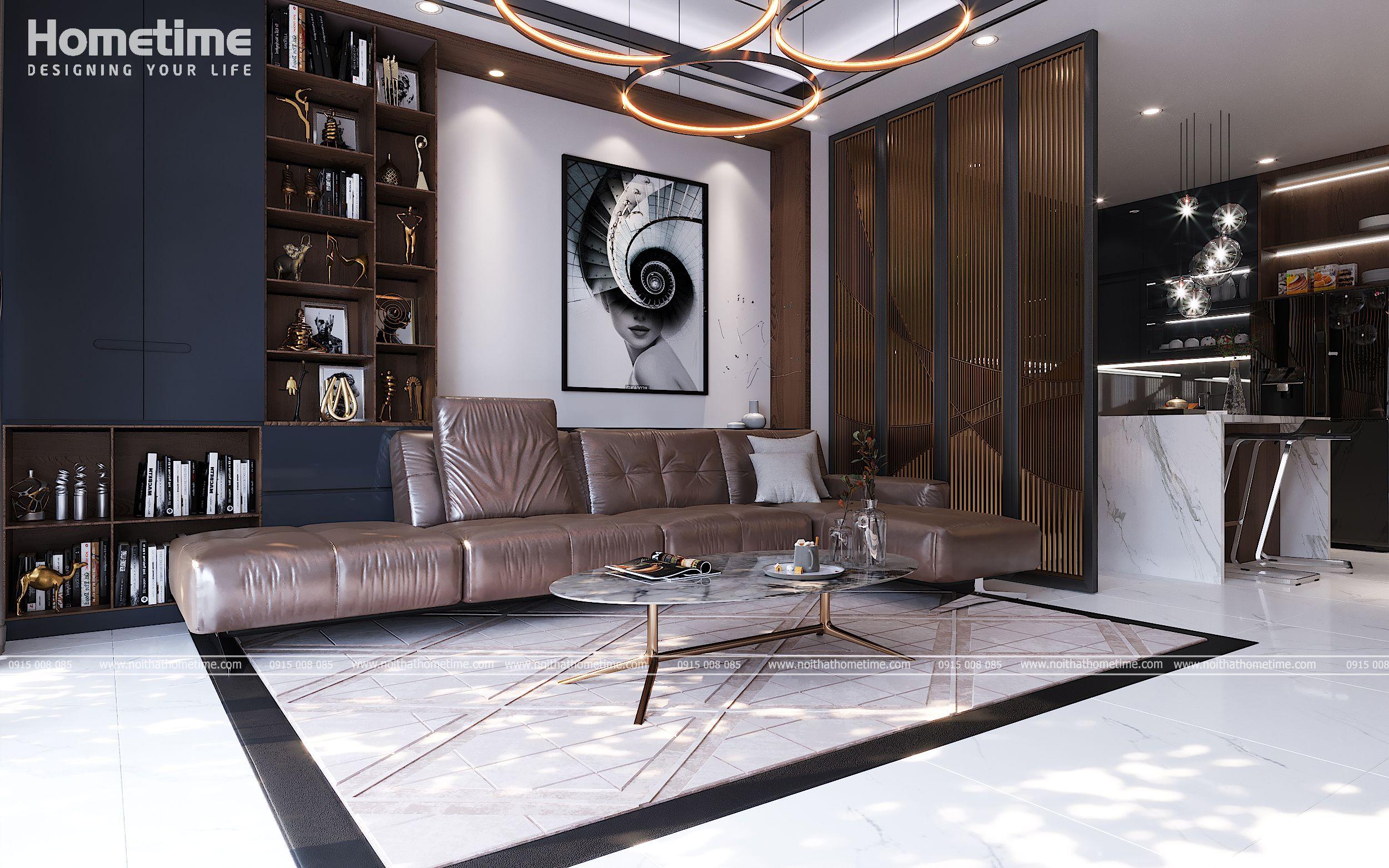 Bức tranh decor trang trí giúp phòng khách thêm sinh động