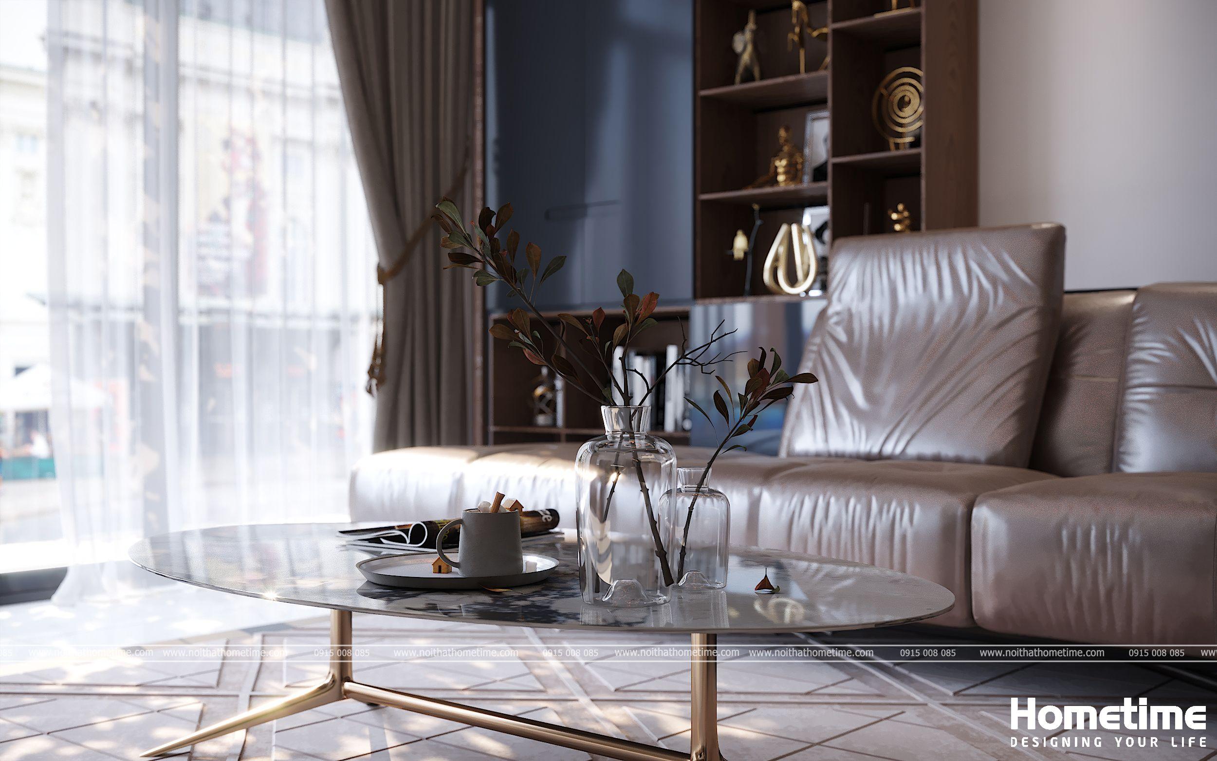 Bàn trà phòng khách kiểu dáng đơn giản