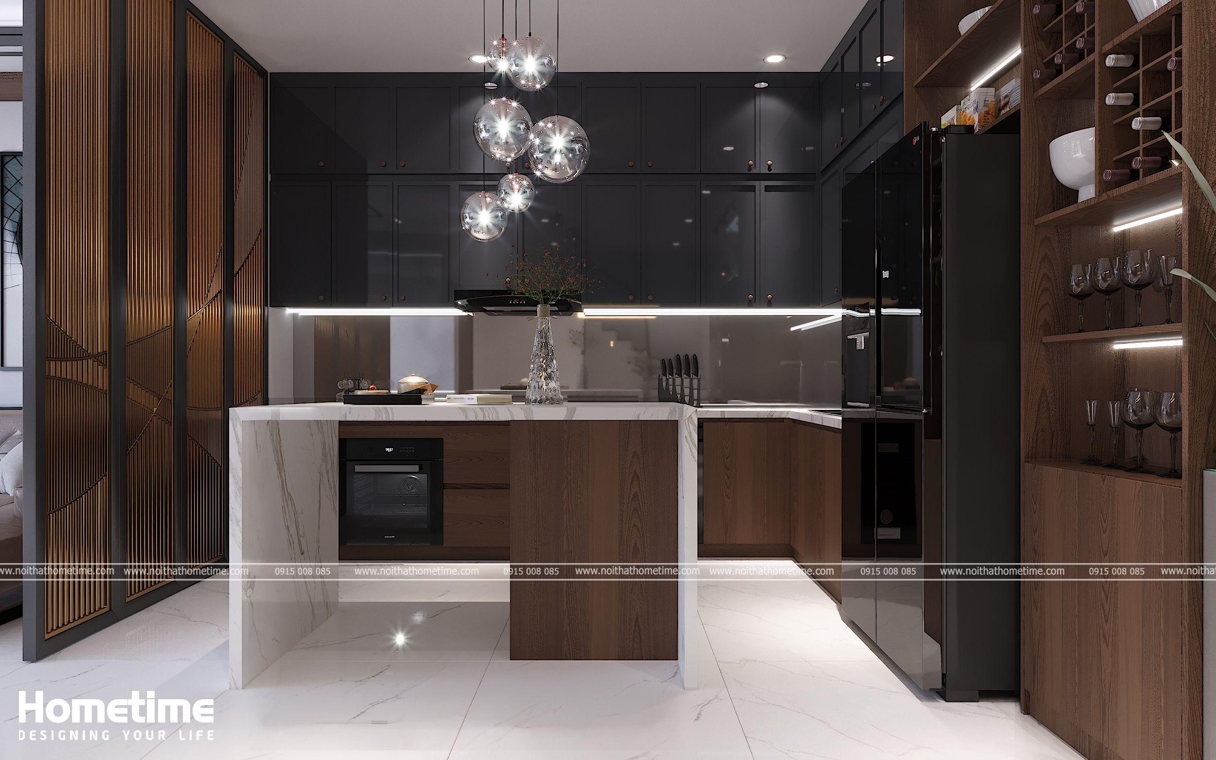 Tủ bếp được thiết kế với công năng sử dụng tối ưu