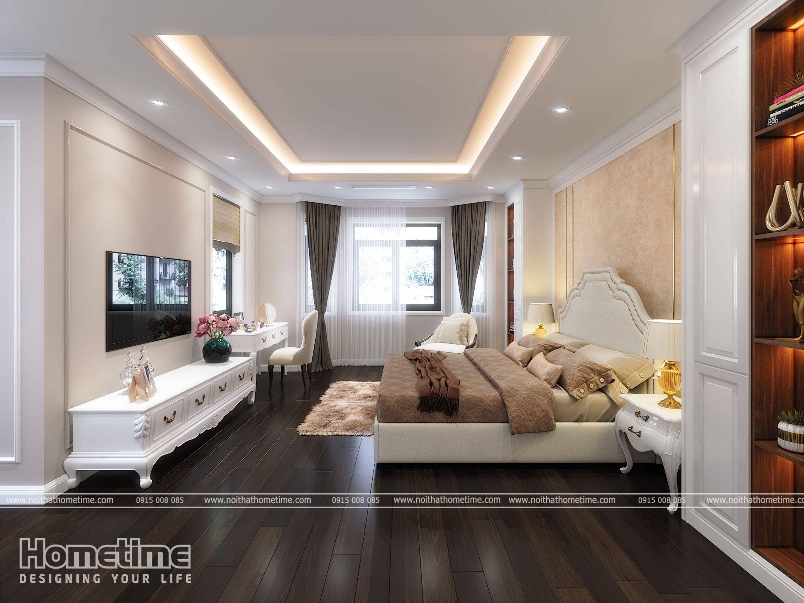Tổng quan thiết kế nội thất phòng ngủ Tân Cổ Điển
