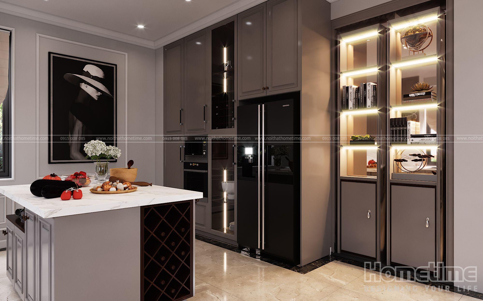 Đèn led gắn trong tủ giúp tăng thêm tính thẩm mỹ cho bộ sản phẩm