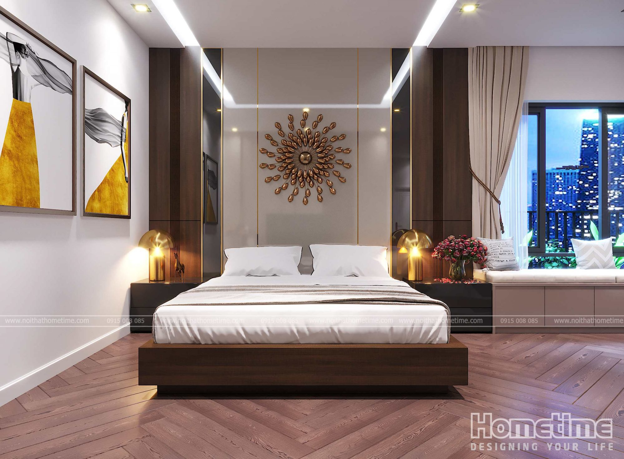 Nội thất phòng ngủ master nhà chị Hạnh