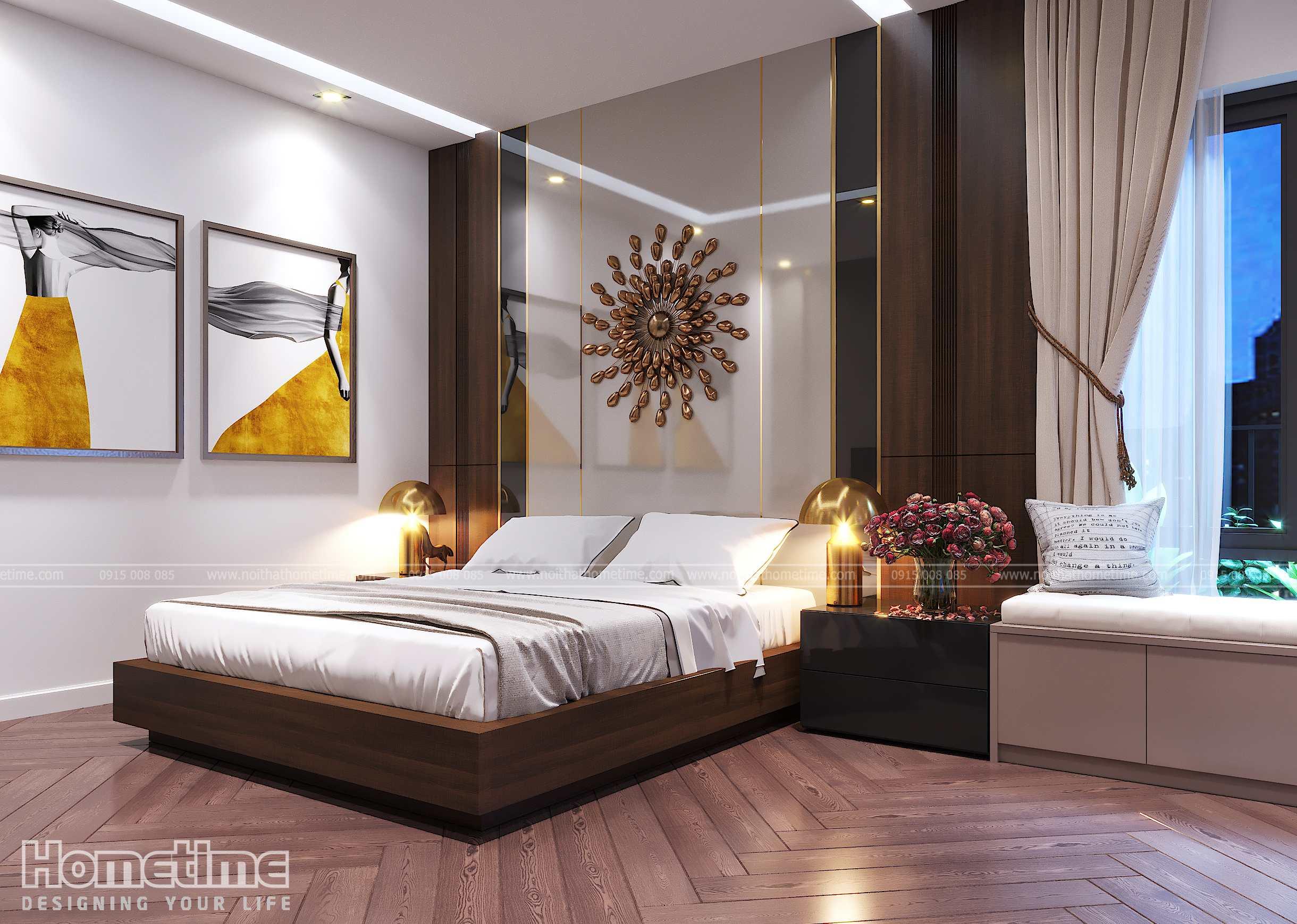 Không gian sang trọng tiện nghi của phòng ngủ master