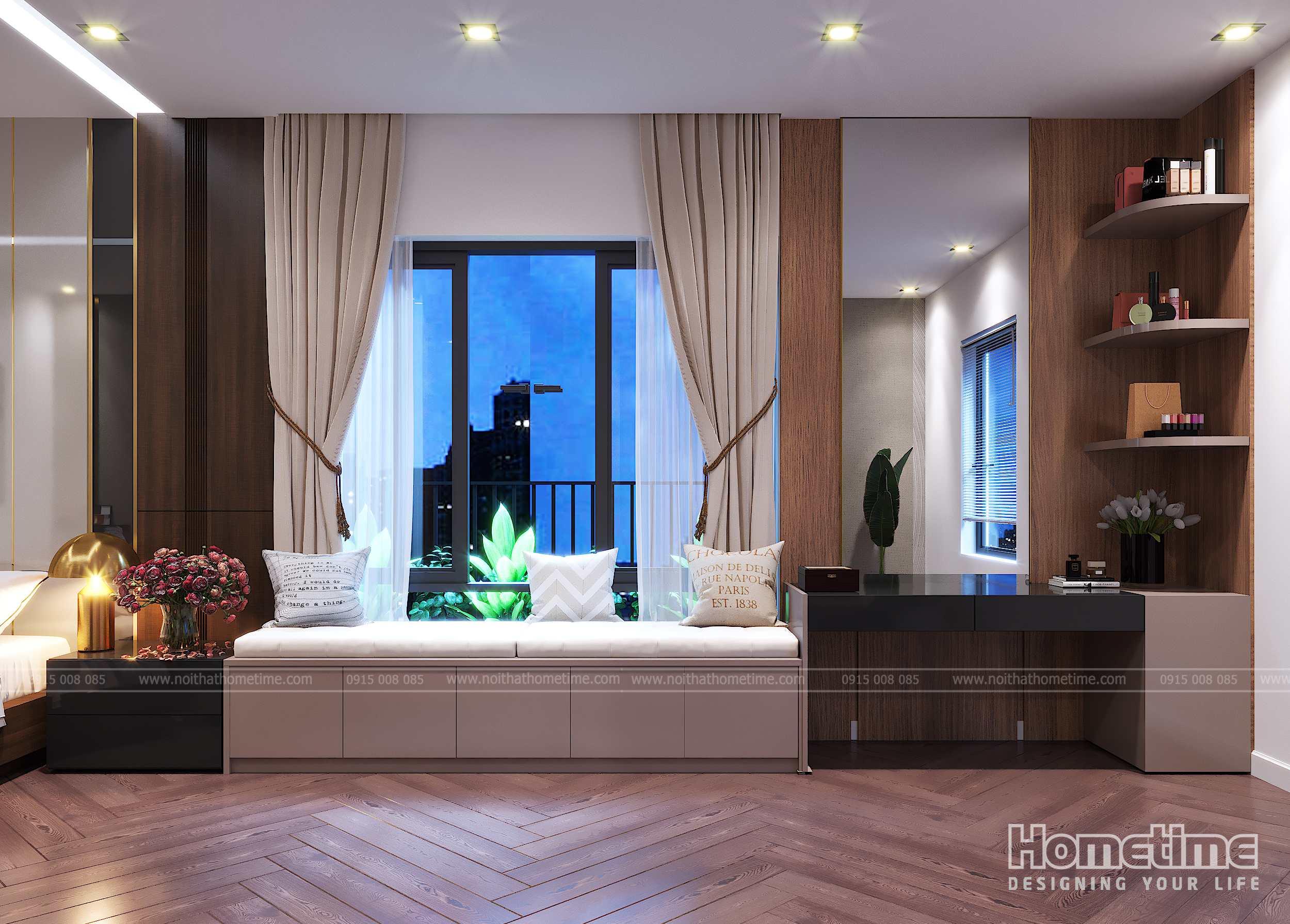 Sự thông thoáng khi thiết kế nội thất bên cửa sổ