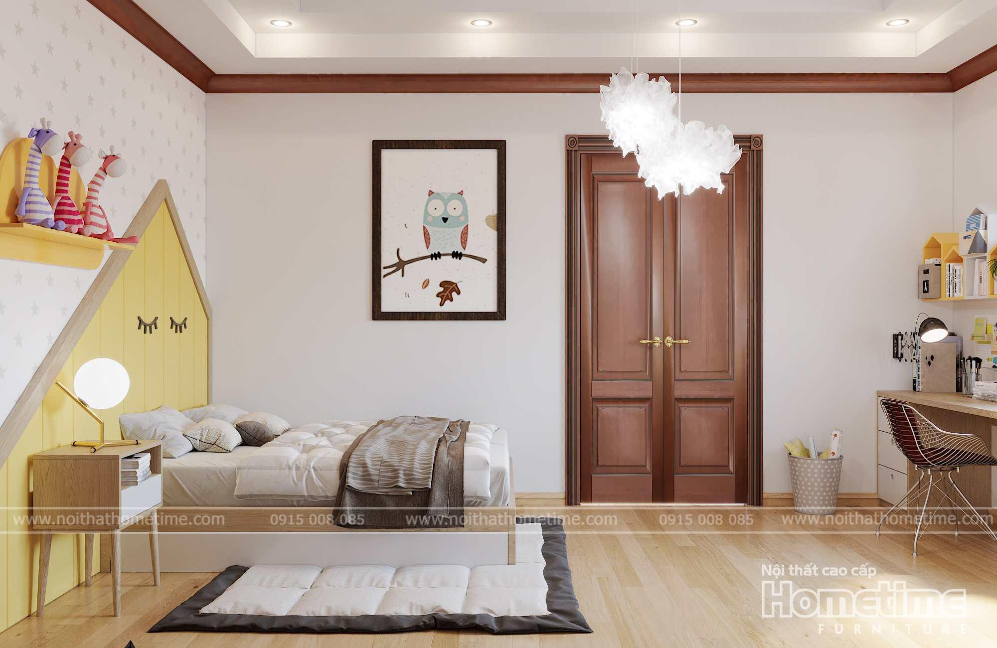 Phòng ngủ thoải mái tiện nghi dành cho trẻ nhỏ