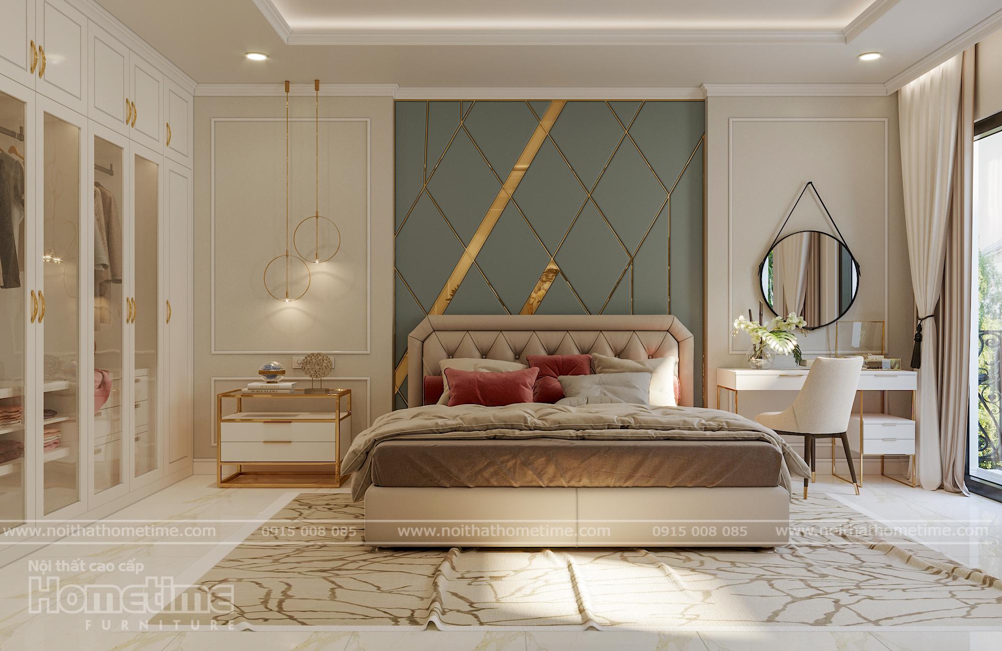 Nội thất phòng ngủ được thiết kế sang trọng hiện đại