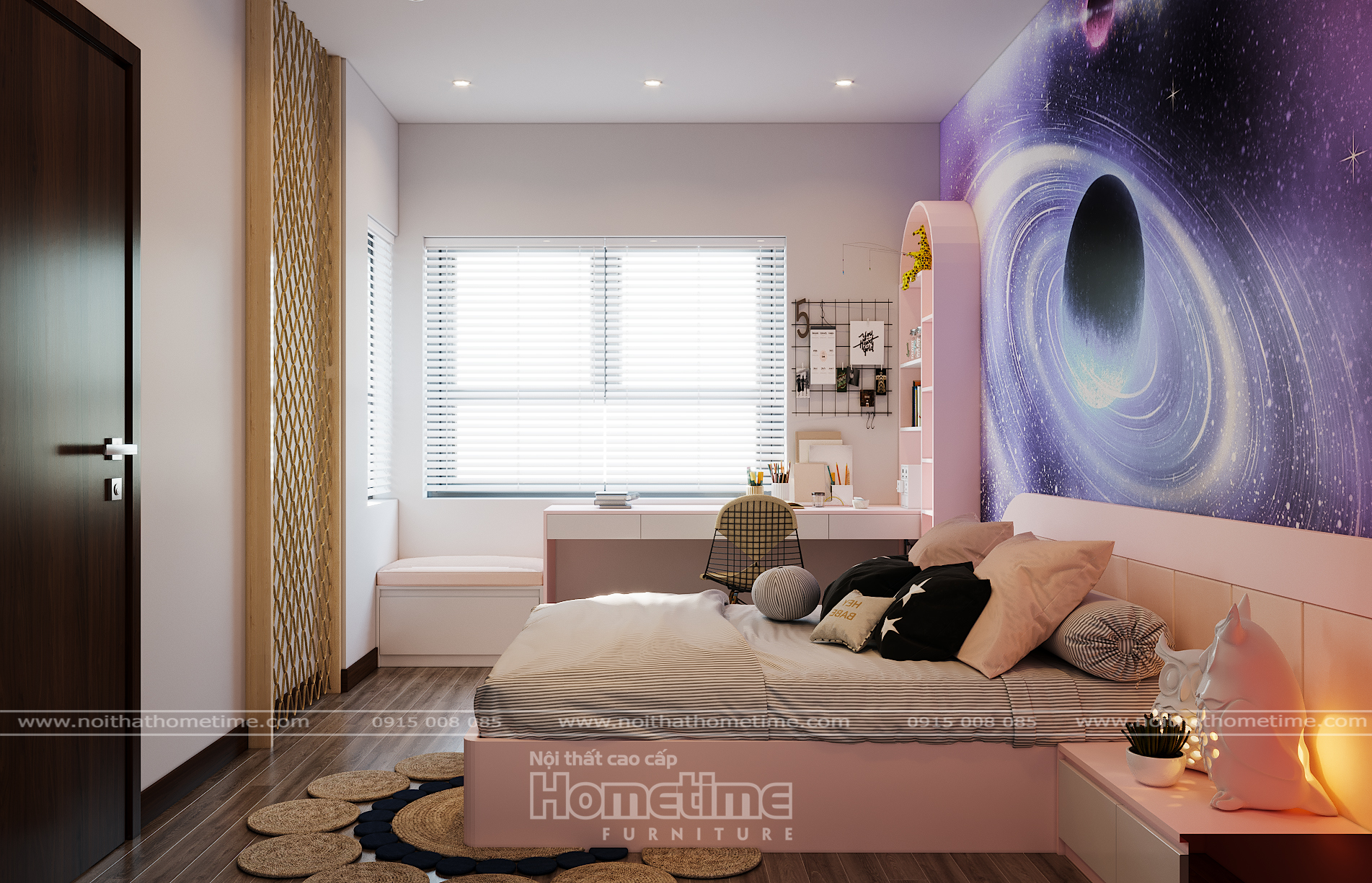 Không gian phòng ngủ tiện nghi với những nội thất hiện đại